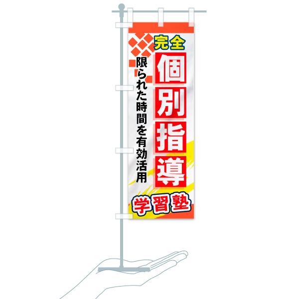 のぼり旗 完全個別指導 限られた時間を有効活用のデザインBのミニのぼりイメージ