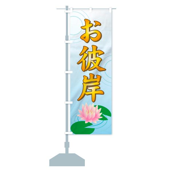 のぼり旗 お彼岸のデザインAの設置イメージ