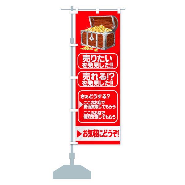 のぼり旗 売りたいを発見した 売れる? を発見したのデザインBの設置イメージ