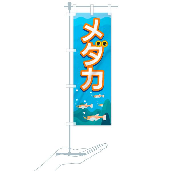 のぼり メダカ のぼり旗のデザインAのミニのぼりイメージ