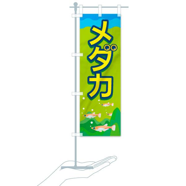 のぼり メダカ のぼり旗のデザインCのミニのぼりイメージ