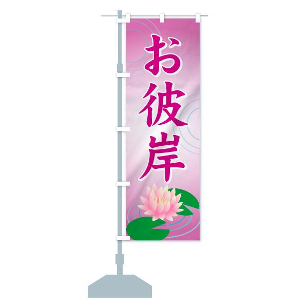 のぼり お彼岸 のぼり旗のデザインCの設置イメージ