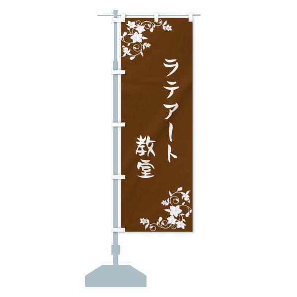 のぼり ラテアート教室 のぼり旗のデザインAの設置イメージ